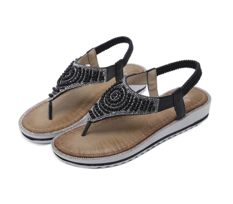 E3358-D2 Black Sandals