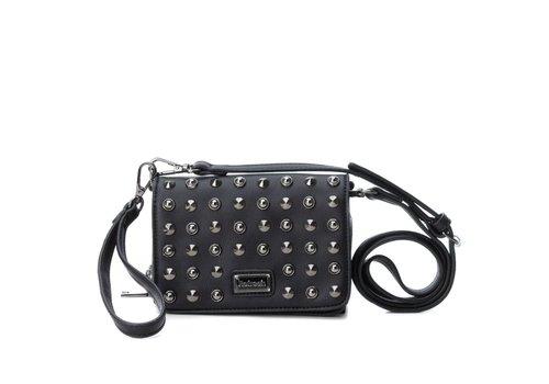REFRESH A/W Refresh 83159 Black Studded Bag