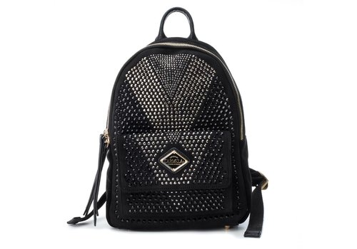 Carmela Carmela 86036 Black Suede Backpack