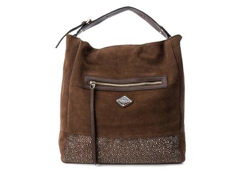 Carmela Carmela 86038 Camel Suede Bag