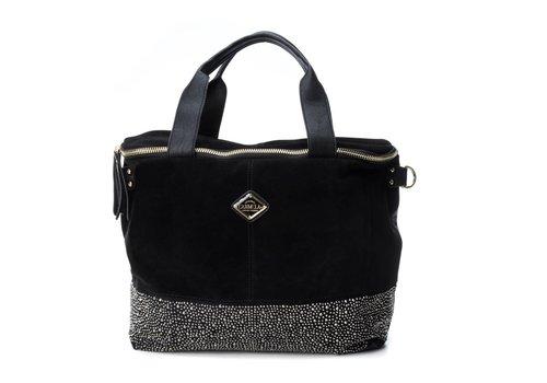 Carmela Carmela 86037 Black Suede Bag