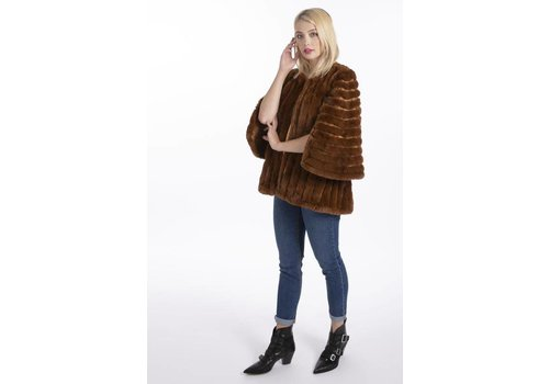 Jay Ley FMSUCT465A-04 Tan Faux Fur Jacket