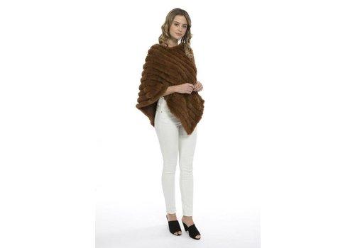 Jay Ley FMP21A-04 Cashmere blend faux fur poncho