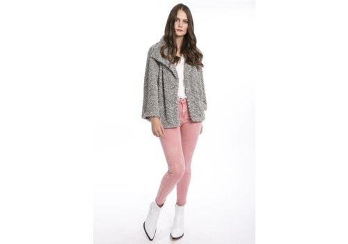 Jay Ley FF5019A-03 Grey Faux Fur Jacket