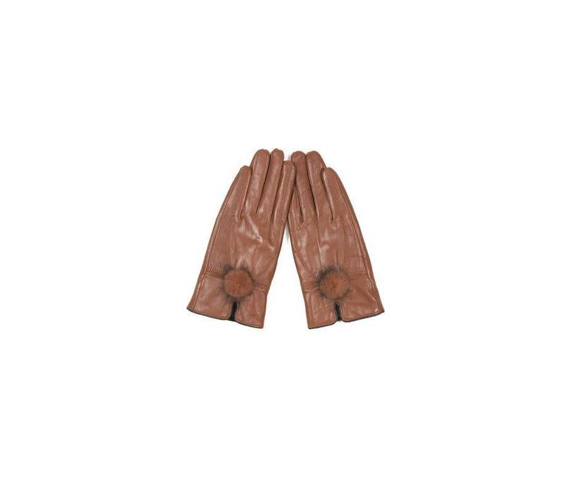 GLVF6A-D04 Tan Leather gloves