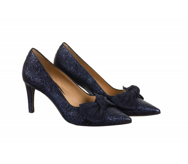 Perlato 10782 Navy Mottled/Suede Bow