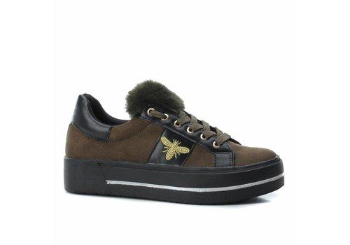 BASS3D BASS3D 41577 Khaki Bee Sneaker