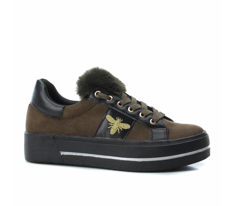 BASS3D 41577 Khaki Bee Sneaker