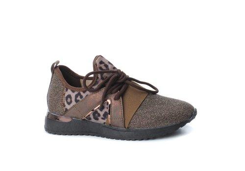 BASS3D BASS3D 41558 Glitter Leopard Sneaker