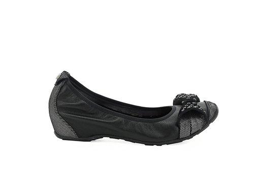 Mamzelle Mamzelle FADO Black Leather Pumps