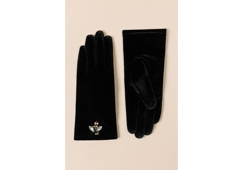Pia Rossini Pia Rossini BRYNN GLOVE Black Velvet
