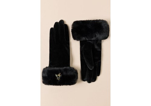 Pia Rossini Pia Rossini KARLY GLOVE Black Velvet