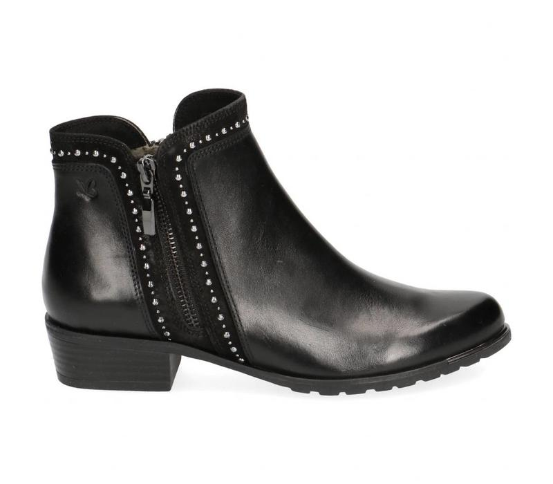 Caprice 25311 Black Leather A/Boot