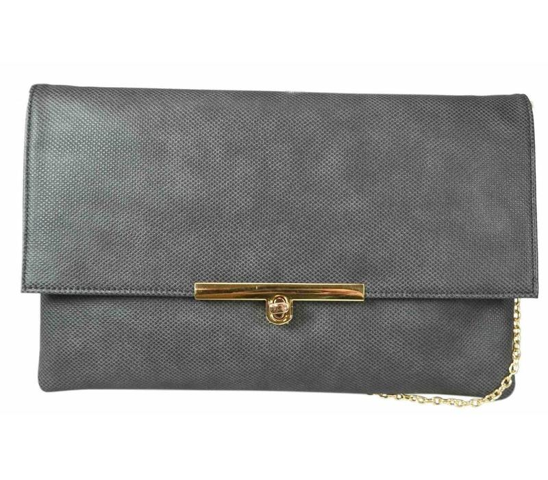 Gionni LINDEN Grey Clutch Bag