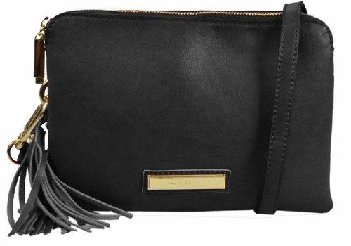 Liberty by Gionni Gionni ACACIA Black Top Zip X-Body Bag
