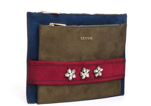 BESSIE London BESSIE London BL3495 Blue Bag