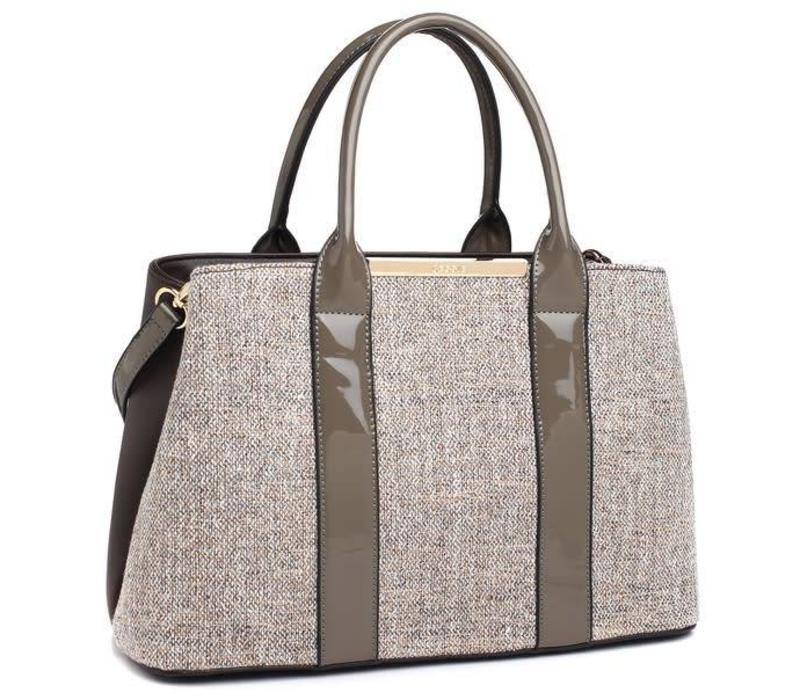 BESSIE London BD3460 Taupe Tote