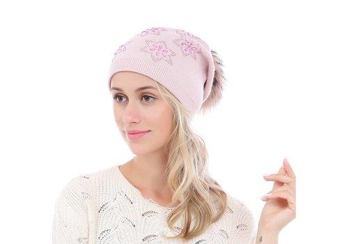 Peach Accessories SD18-1 Baby Pink Pom Pom Hat