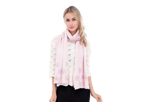 Peach Accessories SD18-2 Baby Pink cashmere blend Scarf