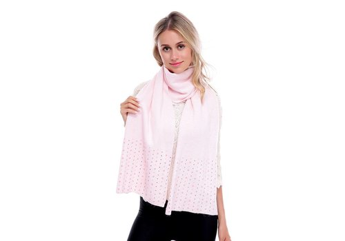 Peach Accessories SD02-2 Baby Pink Beaded Scarf