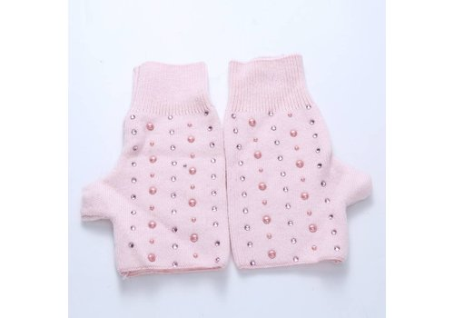Peach Accessories SD02-3 Baby Pink fingerless gloves