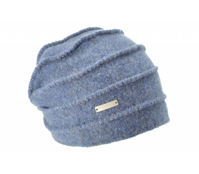 Seeberger 016177/63 Blue Wool Hat