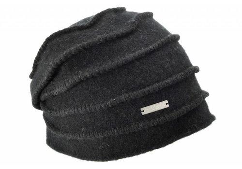 Seeberger Seeberger 016177/10 Black Wool Hat