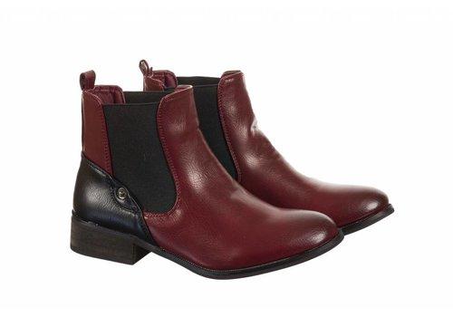 REDZ REDZ STZ-160036-19 Burgundy A/Boot