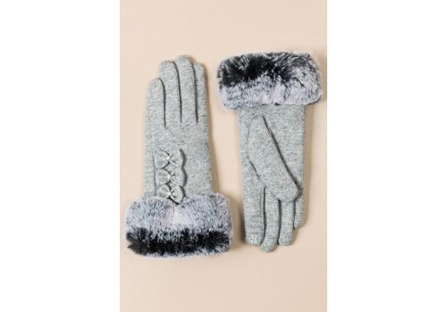 Pia Rossini Pia Rossini LEAH Glove Silver Grey