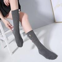 1016 Embellished socks Dark Grey