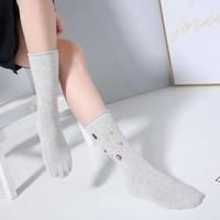1021 Embellished socks light Grey