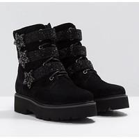 Alma en Pena 118371 Black Velvet A/Boot