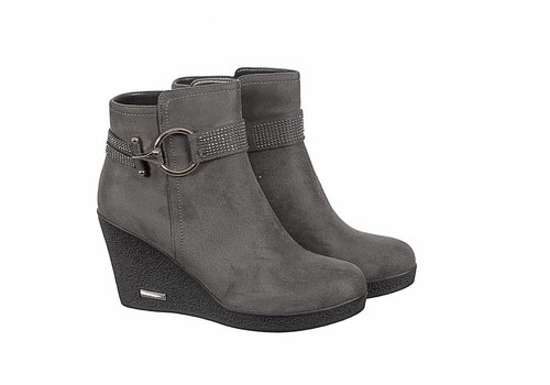 REDZ REDZ X2175-1 Grey Wedge A/Boots