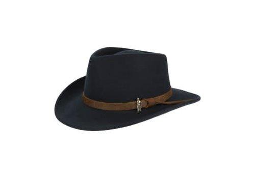 Jack Murphy BOSTON Hat Black crushable Felt