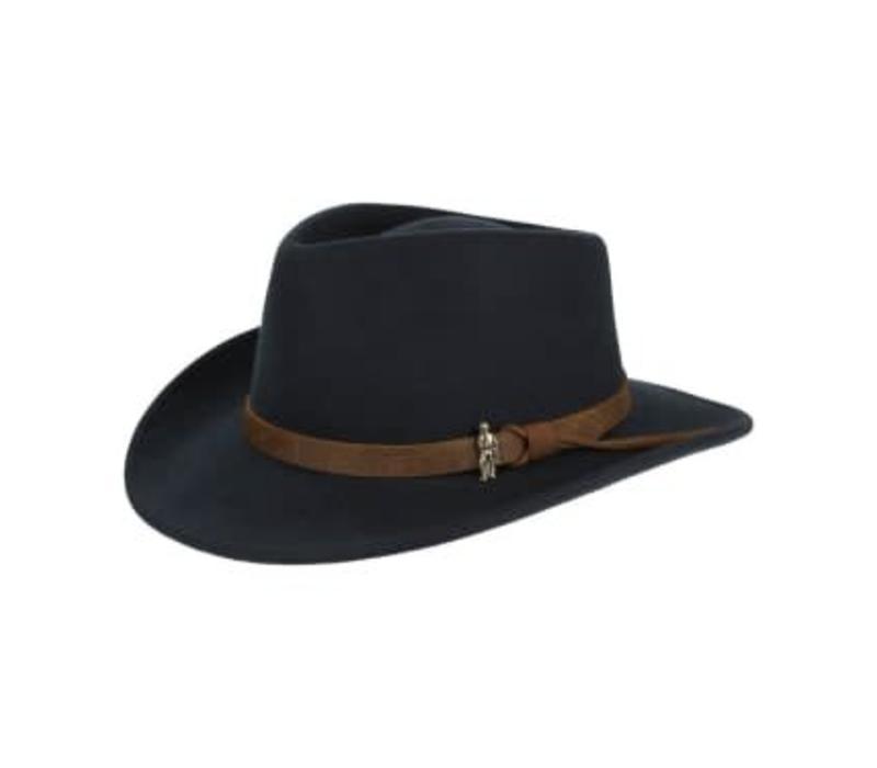 BOSTON Hat Black crushable Felt