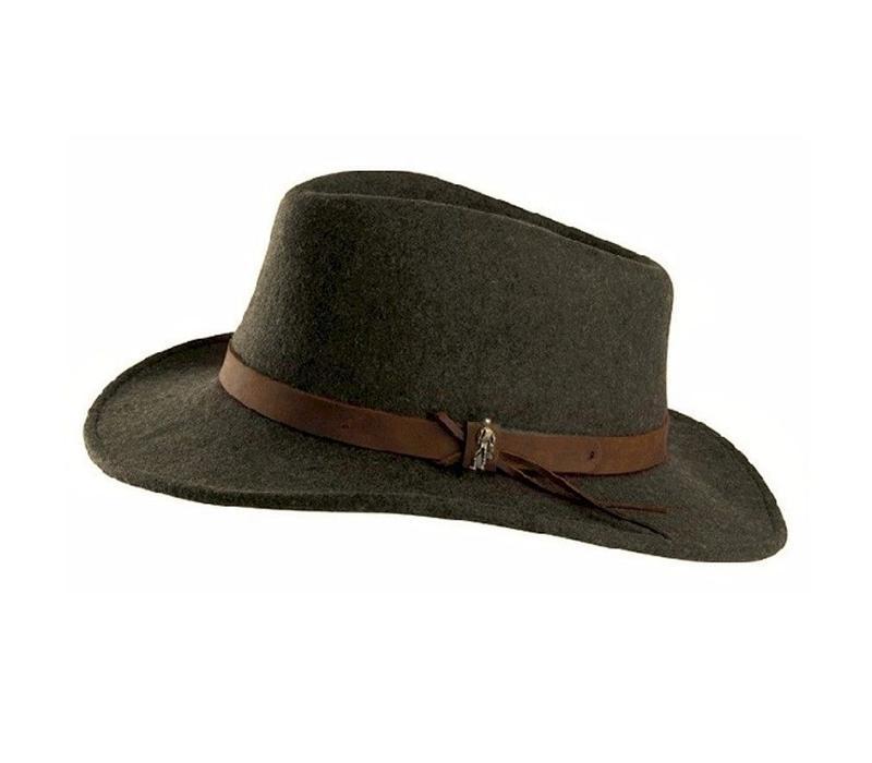 BOSTON Hat Olive crushable Felt
