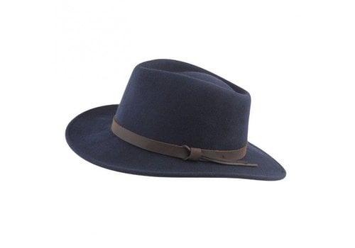 Jack Murphy BOSTON Hat Navy crushable Felt