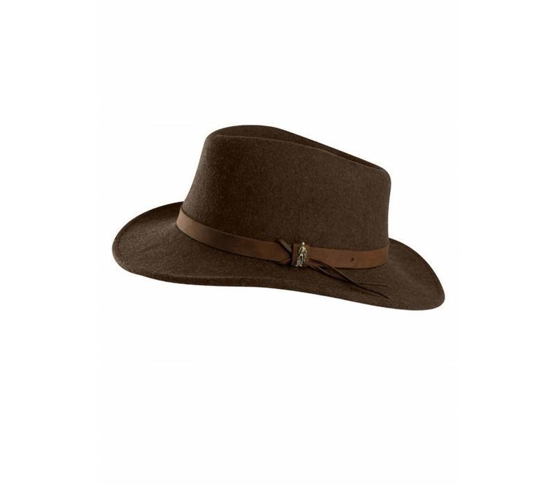BOSTON Hat Brown crushable Felt