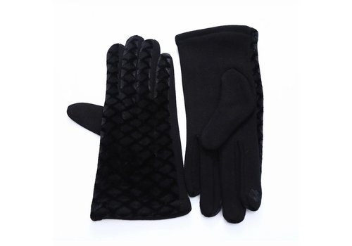Peach Accessories HA67 Black Velvet gloves