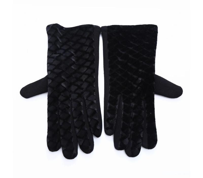 HA67 Black Velvet gloves