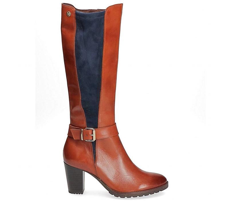Caprice 25611 Cognac/Navy boot
