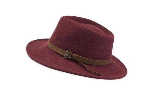 Jack Murphy BOSTON Burgundy crushable Felt Hat