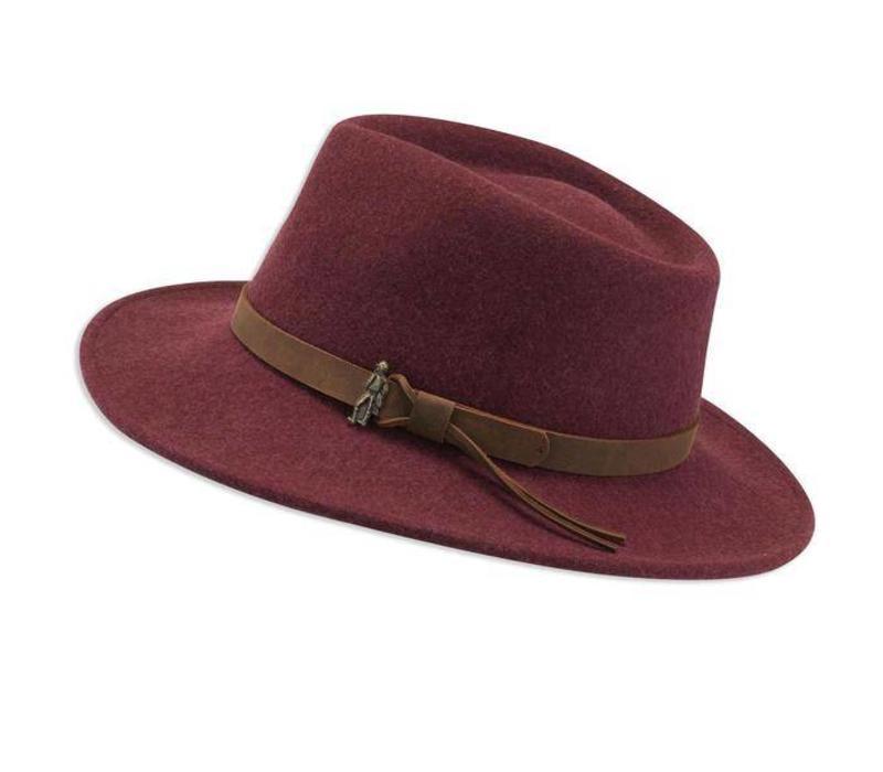 BOSTON Burgundy crushable Felt Hat