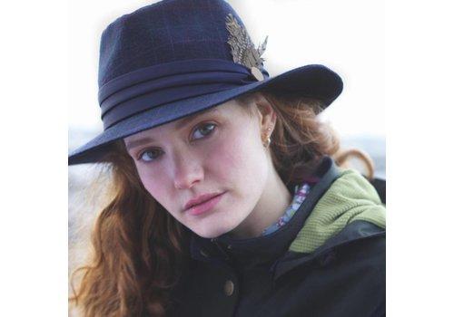 Jack Murphy LEIXLIP Navy Check Tweed Hat