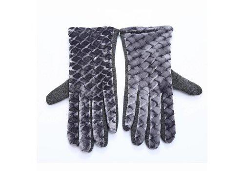 Peach Accessories HA67 Grey Velvet Gloves