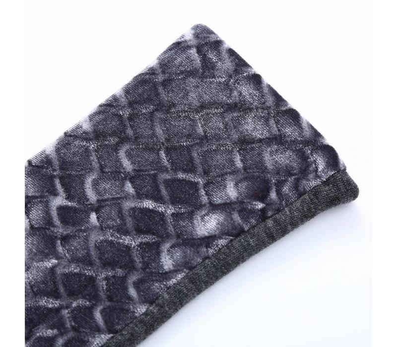 HA67 Grey Velvet Gloves