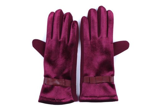 Peach Accessories HA73 Wine Velvet Gloves