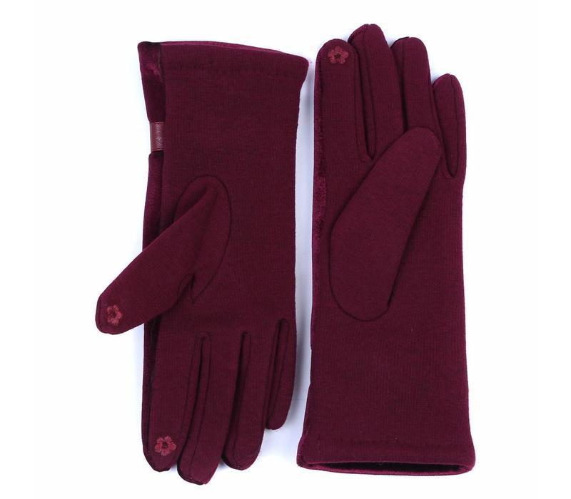 HA73 Wine Velvet Gloves