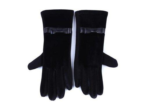 Peach Accessories HA73 Black Velvet Gloves