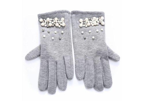 Peach Accessories HA69 Silver Pearl Gloves